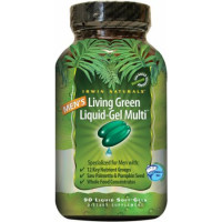 Irwin Naturals Men's Living Green Liquid-Gel Multi 90 Liquid Soft-Gels